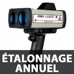 Étalonnage annuel et Vérification Prolaser 3